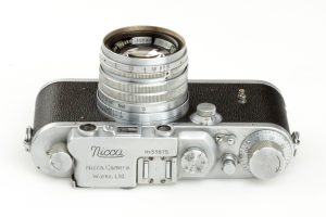 A Nicca IIIa from around 1952 was a direct copy of the Leica IIIa and was one of Nippon's first cameras.