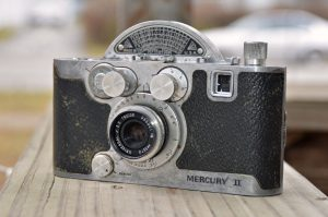 My Universal Mercury II 35mm camera. The serial number of this camera indicates that its an earlier sample, probably made between 1946-1948.