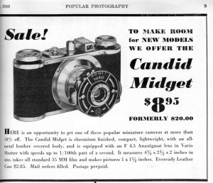 An export variant of the Wirgin Edinex was sold in the US as the Cadid Midget for the low price of $8.95.