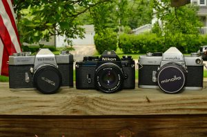 The Nikon EM looks like a baby compared to earlier 60s SLRs like the Minolta SR-7 and Yashica TL-Super.