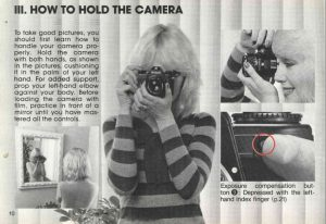 The Nikon EM user manual prominently show women handling the camera, which was at least partly the target demographic for the EM.