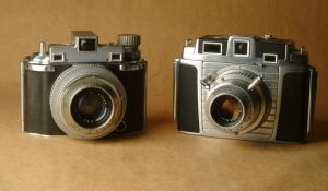 The Kodak Chevron replaced the Medalist II in 1953. Here are two examples side by side.