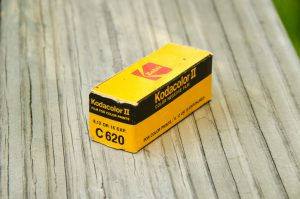 An unopened roll of Kodacolor II 620 film which expired in 1983, which I found for sale at a garage sale. Not only will the spool come in handy, but I intend on shooting this film.