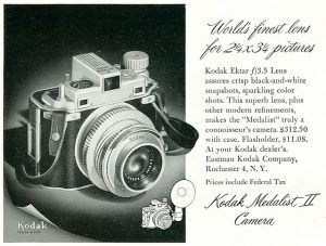 An advertisement for the Medalist II in 1947 shows the price with case as $312.50 which is over $3300 today.