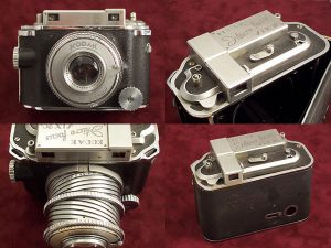 This prototype from 1939 shows many of the characteristics that would later become the Kodak Medalist.