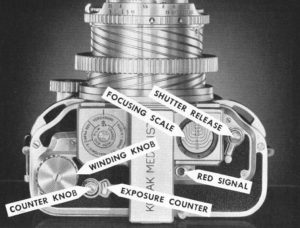 The top plate of the Kodak Medalist.
