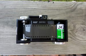 Unlike most 35mm cameras, the film is loaded right to left. Otherwise, its a pretty uneventful experience.