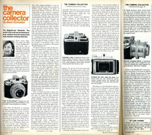 This is an interesting review of the Medalist published in the May, 1978 issue of Modern Photography.
