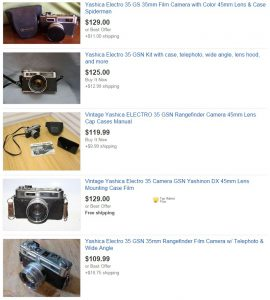 The Yashica Electro 35 is a wonderful camera, but is so common and plentiful, you'd be crazy to pay these prices for one.