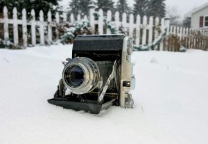 I wouldn't normally recommend shooting an old camera like this in the snow, but hey, I did!