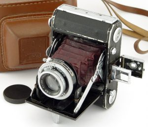 An example of an early Waltax with the folding viewfinder.