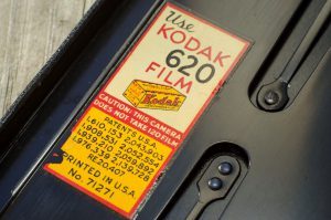 An often overlooked design element of Kodak cameras was the colorful film reminder sticker inside of the film compartment reminding you which film to use.