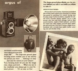 A brochure showing how Argus marketed the EF.