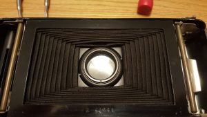 This image shows the ring that holds the shutter in place. Loosen this ring and the entire shutter comes out of the camera.