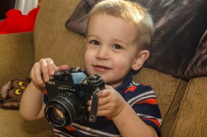 The Asahi Pentax ES II is toddler approved!
