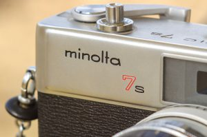 "I have always been a fan of Minolta's older, lowercase logo. I prefer it to the ""rising sun"" logo of the 80s."