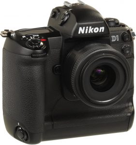 The Nikon D1 was Nikon's first true DSLR. It had a 2.6 megapixel censor and cost $4999.