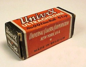This is an example of Univex 00 film used in their pre-war cameras like the Mercury CC.