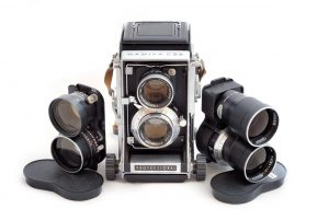 The Mamiya C-series of interchangeable lens, bellows operated TLRs was one of the company's most successful lines.