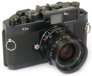 A Cosina made Voigtländer Bessa R4M is a modern digital rangefinder that although no longer in production, can still be bought new/old stock.