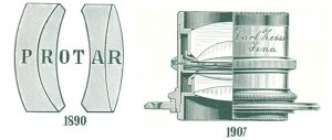 A schematic of Zeiss' first lens, the 4-element Protar.