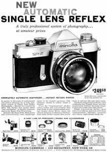 Ad ad for the original Minolta SR-2 lists the price as $249.50.