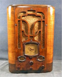 A beautiful example of a Detrola 7ZM Tombstone radio from around 1935.