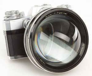 The Carl Zeiss Super-Q-Gigantar claims to be the fastest lens ever made, but it's not real.