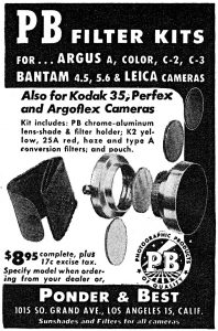 An ad featuring Ponder & Best filter kits from 1946.