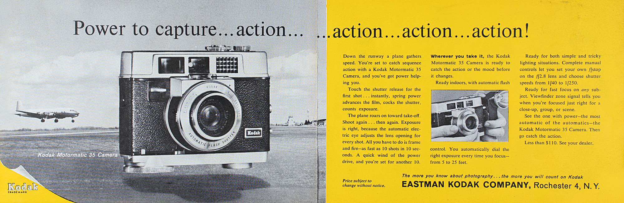 Like the Automatic 35, the Motormatic 35 saw the release of two updated  models, the 35F in 1962 and the 35R4 in 1965. The basic layout of the  camera, lens, ...