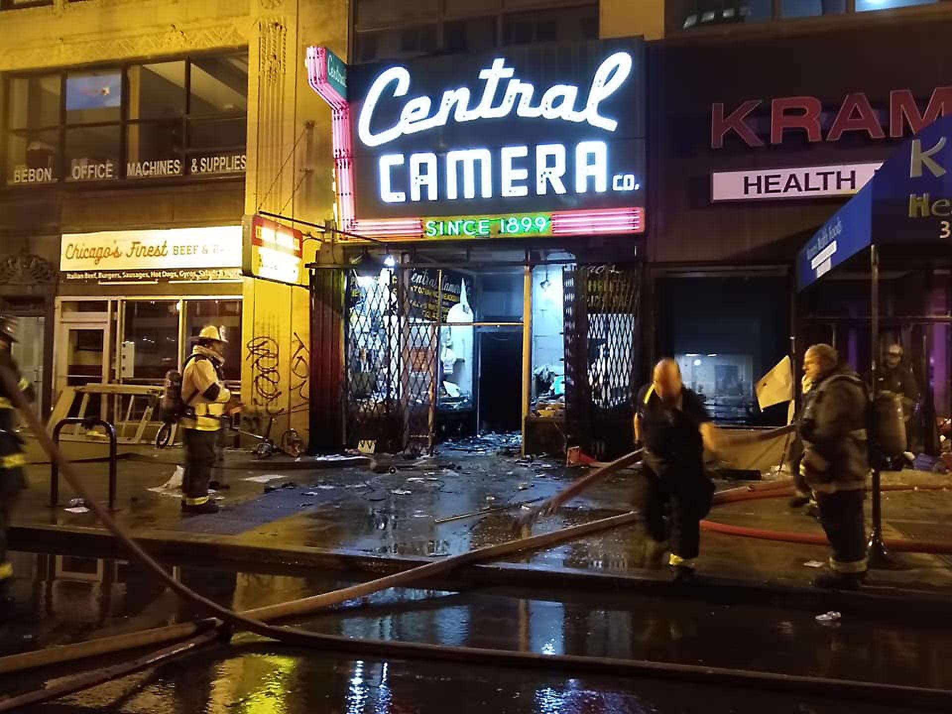 Central Camera Fire