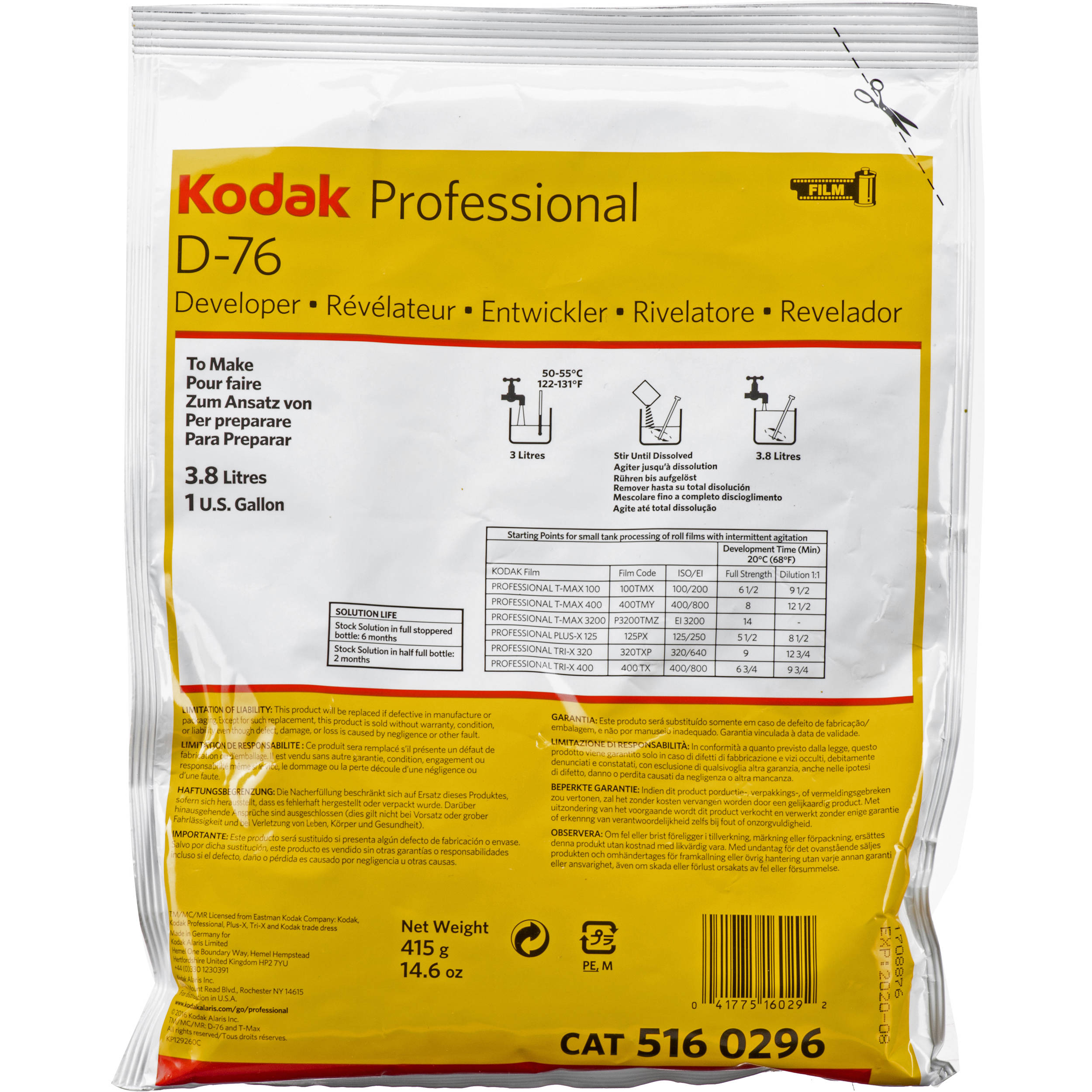 Keppler's Vault 64: Kodak D-76